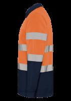 Polo ostrzegawcze długi rękaw z nadrukiem firmowym 339